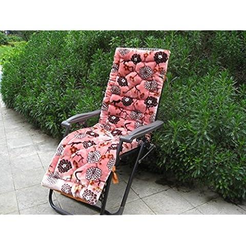 Lay imbottita Sedie Pieghevoli Fujitake Mogano pezzo divano cuscino schienale sedia a dondolo cuscini, 7, 145cm