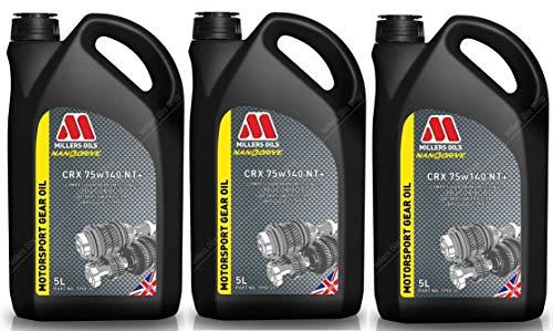 Millers Oils CRX 75w140 NT+ - Olio di Trasmissione Completamente Sintetico, 15 Lit