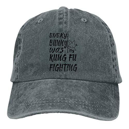 war Kung Fu Fighting Washed Denim Hut Unisex Dad Baseball Caps ()