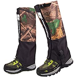 Eagsouni® Polainas Camuflaje al Aire Libre Impermeable Resistente al Desgaste Protege para Las Piernas Actividades de Alta Montaña Excursiones o Senderismo