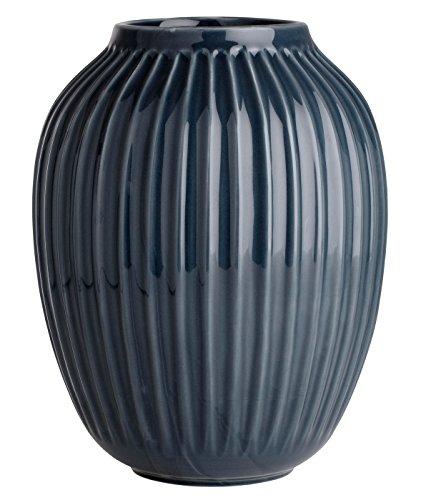 Kähler Design 15386 Vase Hammershøi - Keramik - anthrazit Ø 20 cm Höhe 25 cm