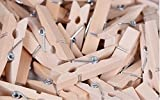 #3: CLOUD 9 Small 10 Piece Mini Wooden Clips pegs 1 inch (25 mm) x .16 inc ((4 mm) for Decoration, Art, Hanging Pictures, Photographs, light weight toys, arts