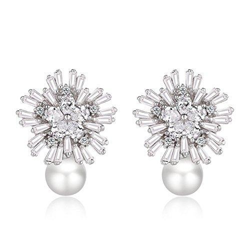 Galwaygirls Ohrringe S925 Silber Mode Persönlichkeit Perlen Sterling Silber Diamant Kreative Ohrringe - Chanel Diamant