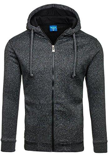 BOLF – Felpa con cappuccio – Con cerniera – Sweatshirt – T&C STAR TC22-1 – Uomo Nero