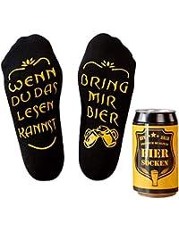 Bier Socken/Handy Socken, Geschenke für Herren, lustiges Geburtstagsgeschenk für Männer, Wenn Du das Lesen Kannst bring mir Bier/Handy