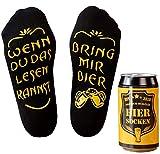 Bier-Socken, Geschenk für Männer, Wenn Du das Lesen Kannst bring mir Bier, lustige Trachtensocken Herren Damen, Geschenk zur Grill-Party, Fußball-Abend (Weizenbier, Chips), Geschenk für Freund, Bruder