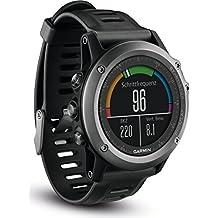 Garmin Fenix 3 Performer - Reloj con correa de plástico para hombre, color negro