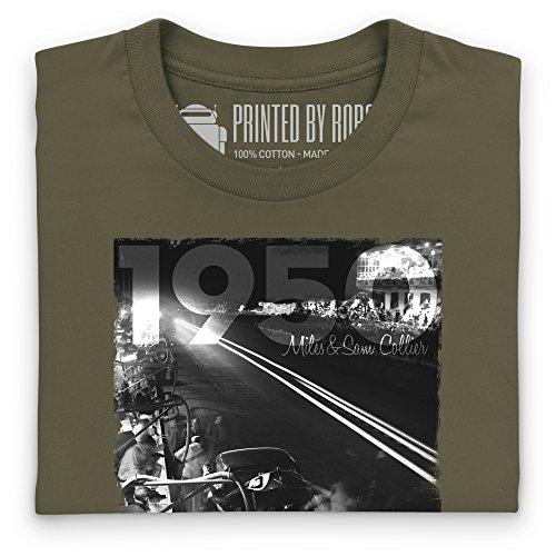 Official LAT Photographic 1950 Le Mans 24 Hours, France T-Shirt, Herren Olivgrn