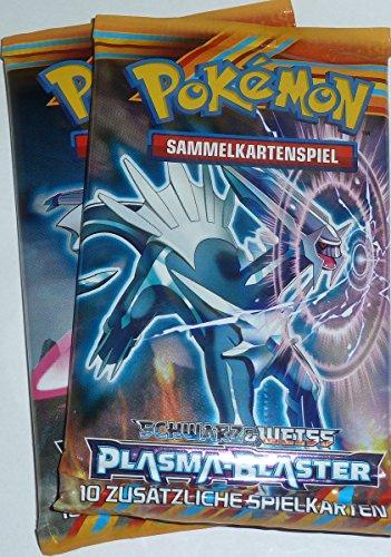 Pokemon-Schwarz-Weiss-Plasma-Blaster-2-Booster-Packs-mit-je-10-Sammel-Karten