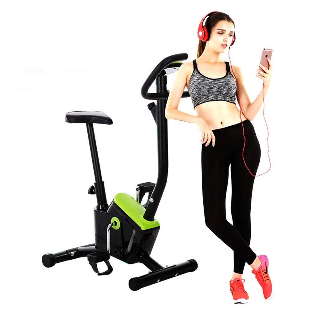 Sumferkyh Indoor Cycling Portable Folding Spinning Bike And Elliptical  Cross Trainer With Fitness Cardio Weightloss Workout Machine Calories