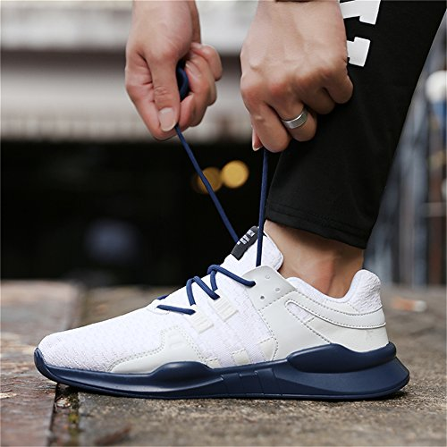IceUnicorn Uomo Sneakers Scarpe da Sportive Corsa Running Sport Sneaker Casual Outdoor Tennis Scarpe da Ginnastica Blu/Bianco