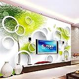 XUNZHAOYH Carta Parati 3D,Sfondo Personalizzato 3D Affresco Estratto Albero 3D Cerchio Living Room Bedroom Hotel Sfondo TV Papel De Parede 3D Wallpaper,500(W) X320Cm(H)(16.5X10.6) Ft