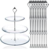 10 x Sets 2 or 3 Tier Cake Plate Stand Fittings Silver Plate Stands New