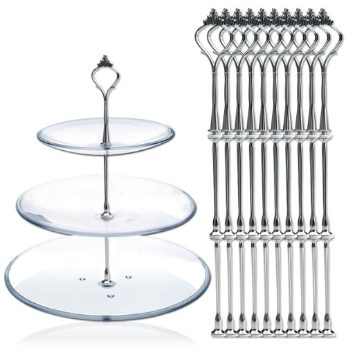 10-x-sets-2-or-3-tier-cake-plate-stand-fittings-silver-plate-stands-new