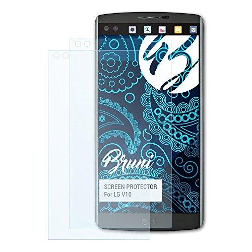 Bruni Schutzfolie für LG V10 Folie, glasklare Bildschirmschutzfolie (2X)