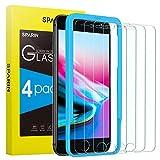 SPARIN [4-Pack] Protector Pantalla iPhone 6/6s/7/8, Cristal Templado iPhone 6/6s/7/8, Vidrio Templado con [2.5d Borde Redondo] [9H Dureza] [Alta Definicion] para iPhone 6/6s/7/8