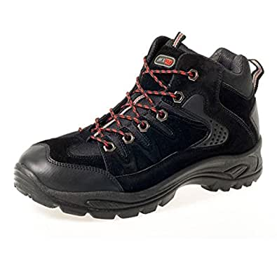 Black Mens Hiking Boots Walking Ankle High Top Trail Trekking Boots Traners Shoes Size 7