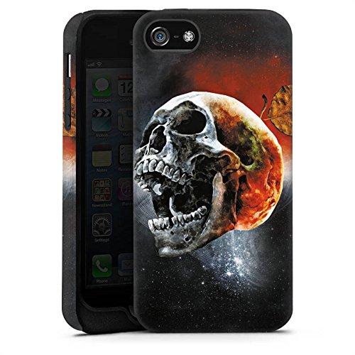 Apple iPhone 4 Housse Étui Silicone Coque Protection Tête de mort Tête Cri Cas Tough terne