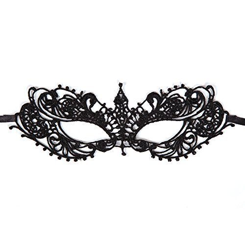 Black Soft Lace Eyemask Mask for Masquerade Fancy Dress by Partypackage Ltd