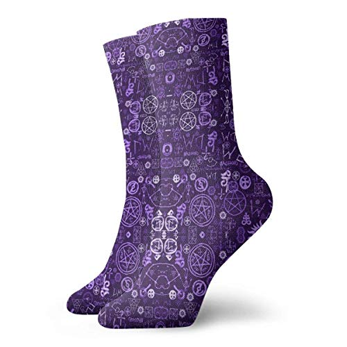 Zhengzho Socken Atmungsaktiv Supernatural Symbols Two Crew Socke Exotic Modern Women & Men Gedruckt Sport Athletic Socken 30 cm (11,8 Zoll) - Supernatural-socken