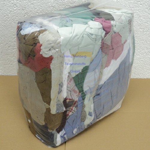 Rehberg´s 10 kg Putzlappen geschnitten aus gewebten bunten Baumwollstoffen Standard-Putzlappen Putztücher -