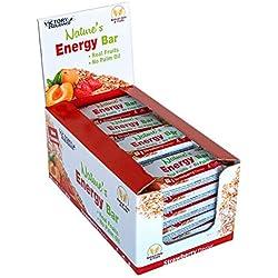 Weider NatureŽs Energy Bar Fresa 60g. Barrita energética con un 41% Frutas y 64% de hidratos de carbono. Gran sabor y energía.