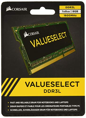 Corsair CMSO8GX3M1C1600C11 Value Select 8GB (1x8GB) DDR3 1600Mhz CL11 - 8 Ddr3-1600-notebook-ram Gb