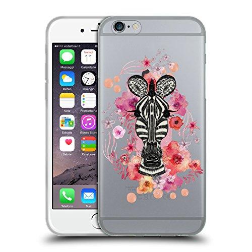 Ufficiale Monika Strigel Giraffa Animali E Fiori 2 Cover Morbida In Gel Per Apple iPhone 6 Plus / 6s Plus Zebra