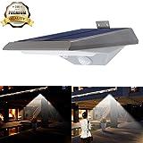 iThird Solarleuchte mit bewegungsmelder, 18 superhelle LEDs mit 2 Beleuchtungsmodus für Veranda, Treppen, Garten, Terrasse, Garagen, Eingang (weißes Licht)