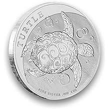 Moneda de plata Niue Turtle 2017 1 onza plata 999 individualmente en cápsula para monedas