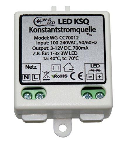 LED-Konstantstromquelle-Treiber-700mA-(3-12V)-KSQ_für z.B. 1-3 x 3W LED