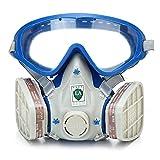 Máscara de Gas, Antifaz de Silicona para Remolque Completo, mascarilla de Gas para Pintura, Productos químicos y plaguicidas