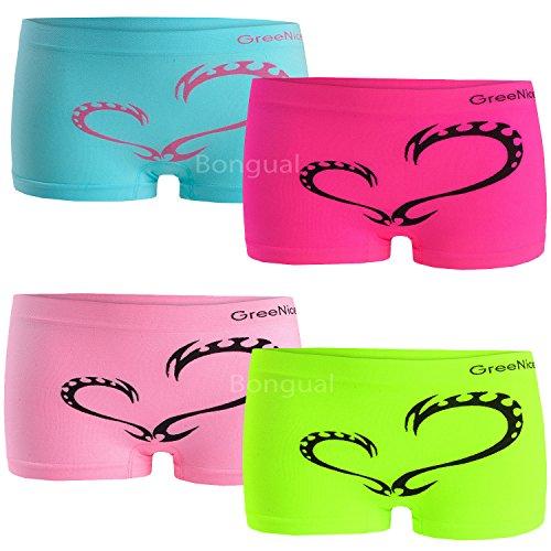 Damen Boxershorts Panty Hotpants Microfaser Sport Unterhose viele Farben 4-6St
