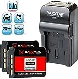 Baxxtar RAZER 600 chargeur 5 en 1 + 2x Baxxtar Batterie pour Sony NP-BX1 (1090mAh) -- NOUVEAU avec entrée micro USB. Sortie USB pour charger simultanément un troisième dispositif (GoPro, GoPro à distance, iPhone, tablette, smartphone, etc ..) pour Sony CyberShot DSC RX100 RX100 II RX100 III RX100 IV M4 RX1 RX1r HX50 HX50V HX60 HX60V HX80 HX80V HX90 HX90V ... et tous les autres, avec la batterie d'origine Sony NP-BX1
