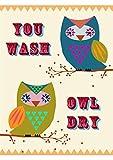 Home Dry &, 100% Baumwolle, waschbar, trocknen sie Eule