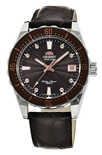 ORIENT Automatic Sports 100M Superior Ladies Watch Brown Guilloche Dial FAC0A005T