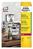 Avery Zweckform L4716-20 Wetterfeste Folien-Etiketten (A4, 960 Stück, Ø 30 mm) 20 Blatt weiß