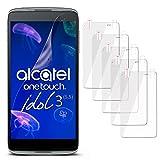 MoEx 5X Alcatel OneTouch Idol 3 5.5 | Schutzfolie Klar Display Schutz [Crystal-Clear] Screen Protector Bildschirm Handy-Folie Dünn Displayschutz-Folie für Alcatel One Touch Idol 3 5.5 Displayfolie