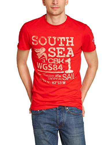 CBK 550117 - T-shirt a maniche corte, da uomo, Uomo, 550117, rosso, XL rosso