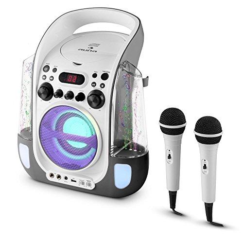 Auna Kara Liquida Karaoke Player mit Wasserfontäne (weiß) - 8