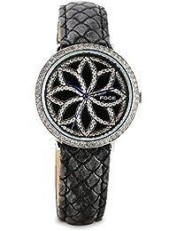 FOCE Analogue Black Dial Women's Premium Crystal Studded Watch - [FA21SSL-BLACK]