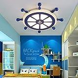 Modernes Elegante Deckenleuchte Runden Ruder-Shape Acryl Schirm Deckenlampe Gemütliche Piraten der Karibik Fernbedienung Dimmbar 2800K-6000K Ø550MM Innenleuchte für Kinderzimmer