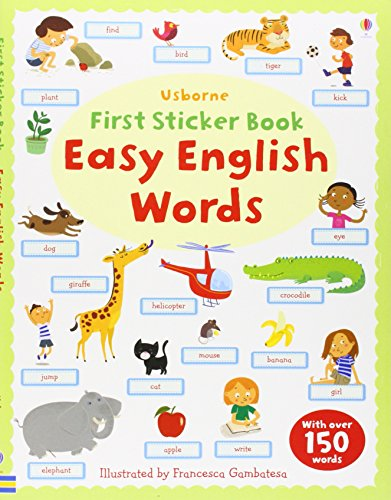 First Sticker Book: Easy English Words (Usborne First Sticker Books)