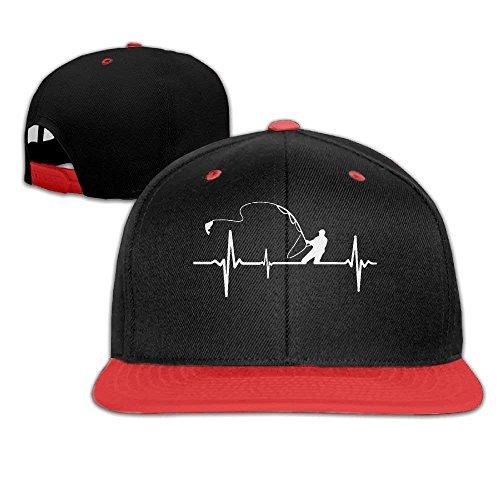 Fishing Heartbeat Men's Hip Hop Baseball Cap Ssc Cap