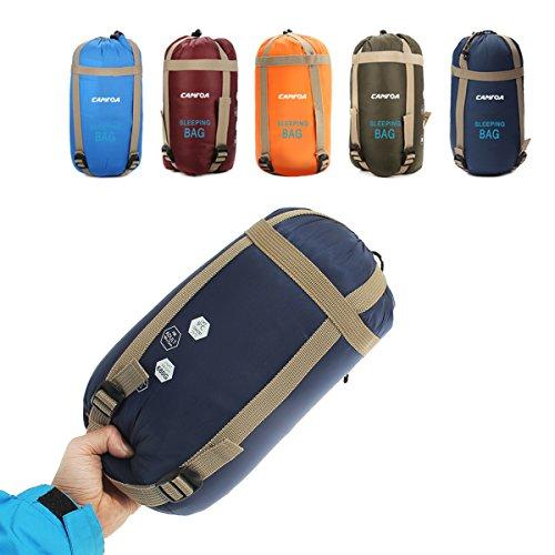 CAMTOA Portatile Impermeabile Busta Sacco a Pelo , Ultra Leggero Sacchi a pelo Sleeping Bag Per Campeggio Arrampicata All'aperto