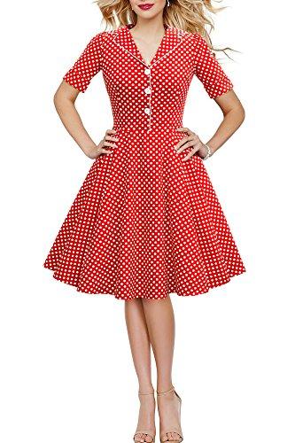 'Sabrina' Vintage Polka-Dots Kleid im 50er-J-Stil