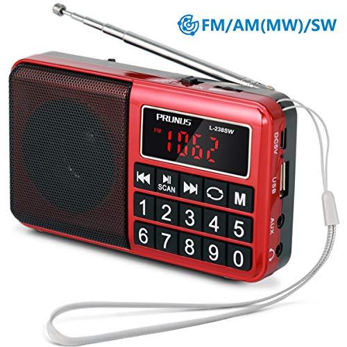 bles Radio UKW FM/AM(MW)/SW/MP3/USB/SD/TF -Große gummierte Knöpfe - großes Display (Keine manuelle Einsparung/Entfernung von Radio Station-Funktion) ()