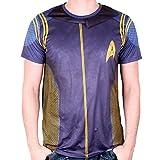 Star Trek Mens T-Shirt Discovery Comandante Uniforme Blu - M