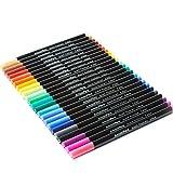 Premium Sketch Finliners/ Marqueurs Fins pour faire des esquisses et des coloriages (un assortiment de 24 stylos)/ Une pointe fine de 0,4mm de diamètre/ Une Encre Durable et sans Coulures, Un