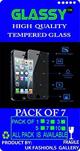 GG-156 Glassy (Pack Of 7) laminated safety Tempered Glass Screen Protector For Micromax E313 Canvas Express 2